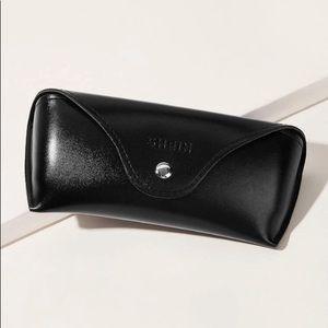 SHEIN Black Faux Leather Glasses Case / Holder